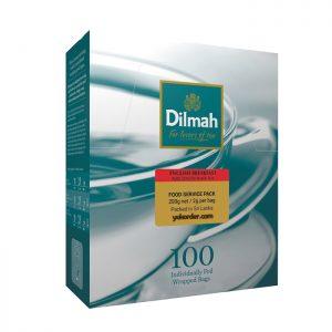dilmah english breakfast 100 sachet