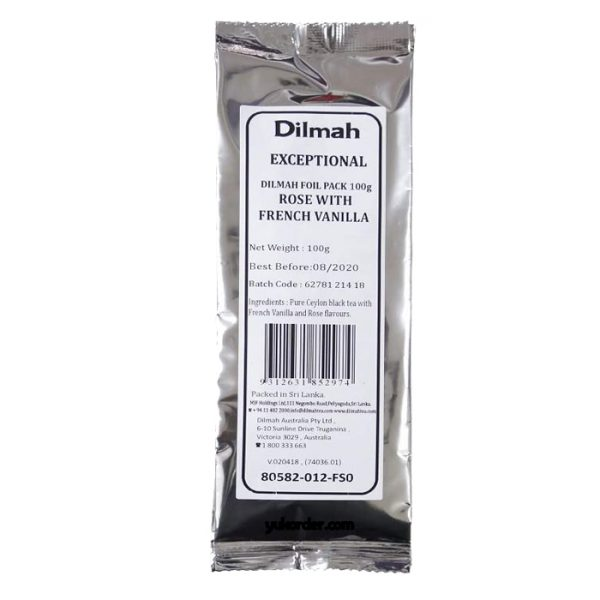 dilmah t-series refill rose with french vanilla